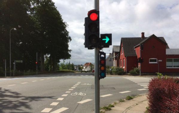 Rødt lys for cyklister i Svendborg
