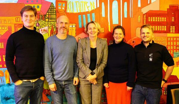 Aske Skat, Jesper Kiel, Susanne Gustenhoff, Stine Lundgaard og Jens Erik Launlund Skotte