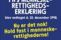Plakat: Hold fast i Menneskerettighederne - Svendborg